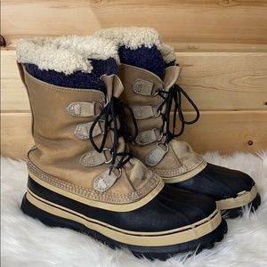 Sorel Winter Snow Fleece Lined Boots 8